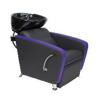 """Парикмахерская мойка """"МД-123"""" с фиолетовой раковиной без регулировки ножной части"""